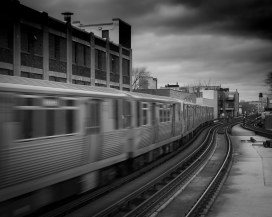 Speeding Red Line, Belmont Station