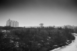 The Big Sioux River and Silos